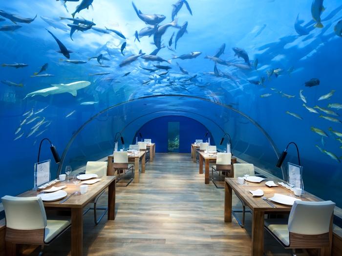 platz 1 restaurant unter wasser