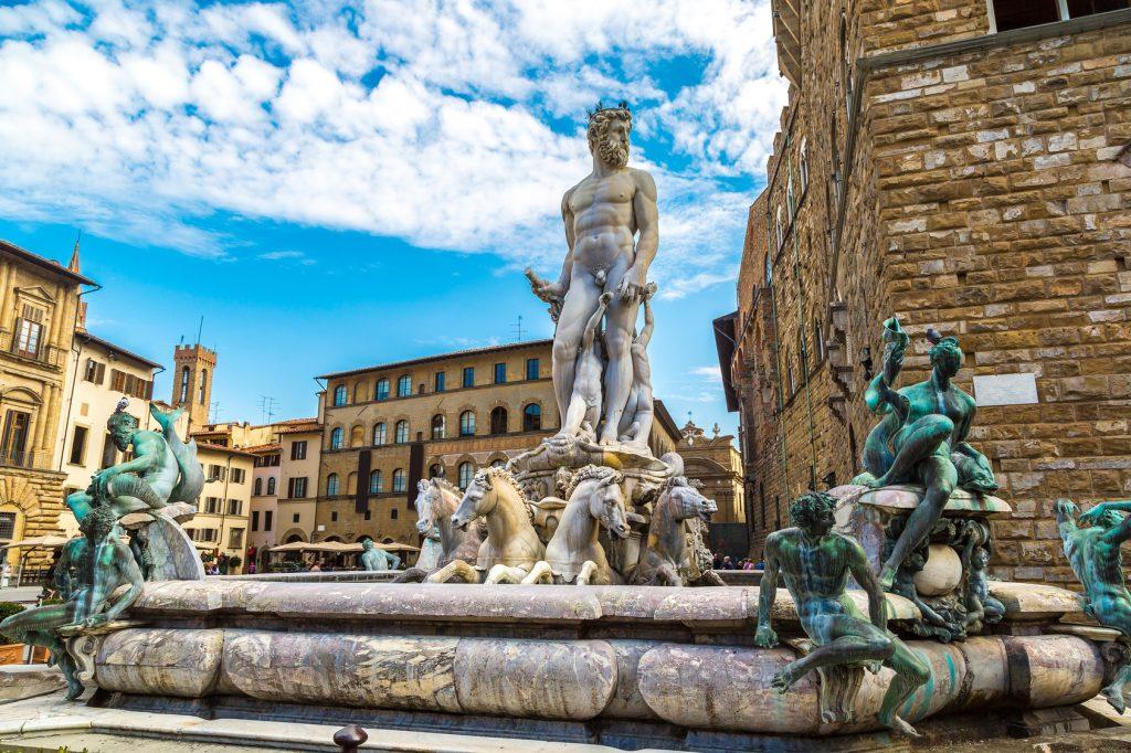Top 10 Sehenswürdigkeiten Florenz. Piazza della Signoria.