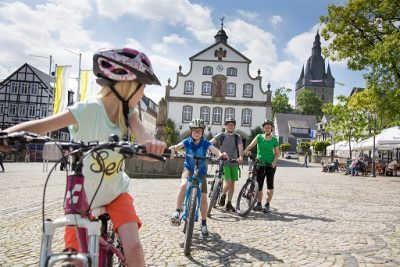 Marktplatz Brilon mit dem Fahrrad