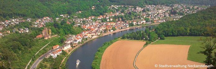 Neckarsteinach Odenwald Luftbild