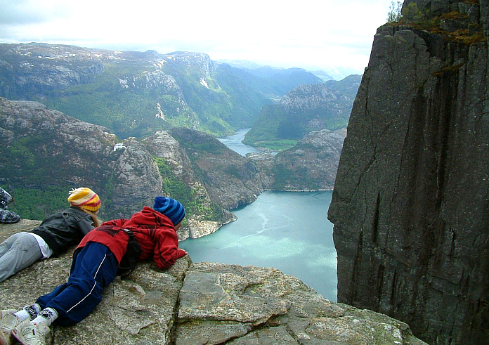Der Preikestolen in Norwegen