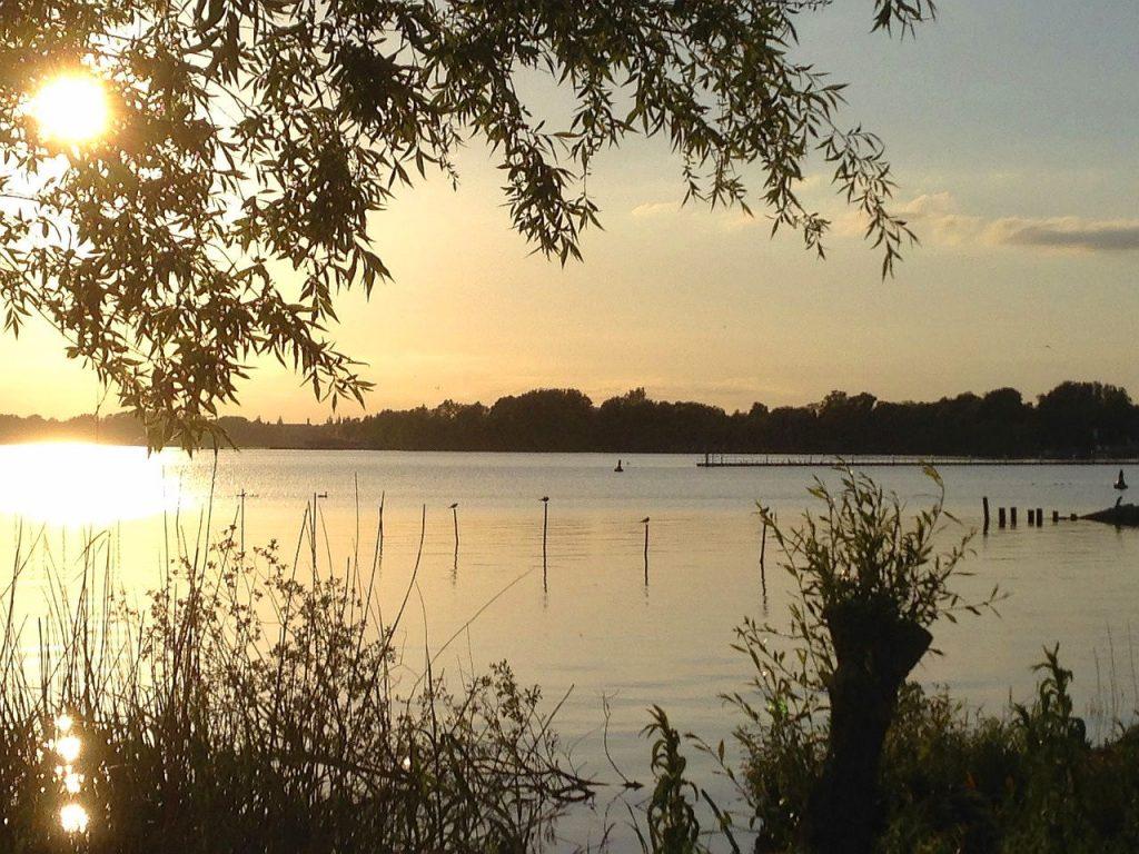 See in Brandenburg Abendsonne