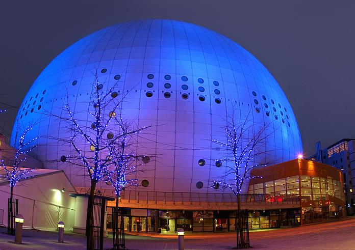 STop 10 Sehenswürdigkeiten Stockholm. Globen-Arena.