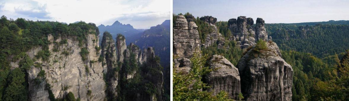 Zhangjiajie-elbsandsteingebirge