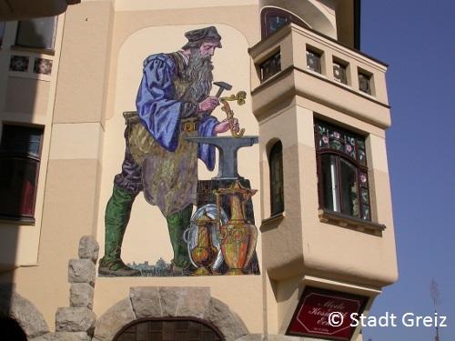 Mosaik Jugendstil Stadt Greiz