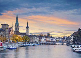 Zürich See Hafen Skyline